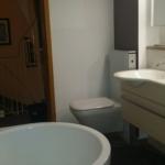 Design Wand WC Anlage-mit Geberith Monolith