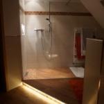 Lichteffekt Dusch-Waschtischbereich