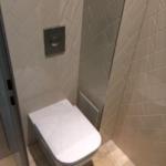 Design-WC mit Einbauspüler