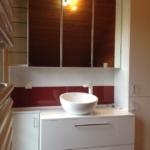 Design Waschschale - und Wand - Kombination in interessantem Design