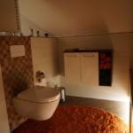 Wand-WC mit Design-Betätigung