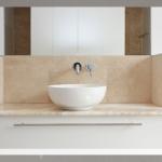 Waschschale auf Travertin - Natursteinplatte